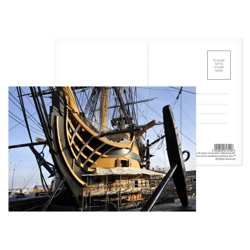 Repairing the Bow of HMS Victory Postcard (x8)