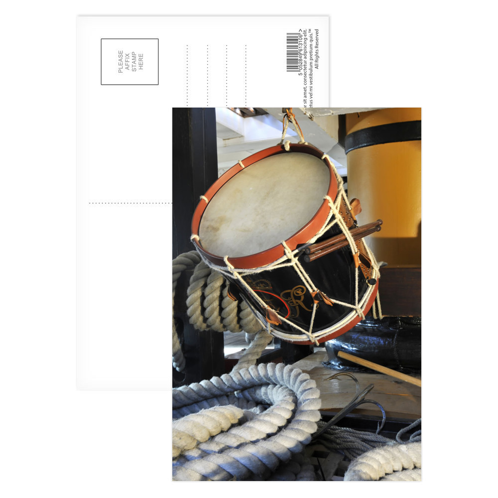 Drum on HMS Victory Postcard (x8)