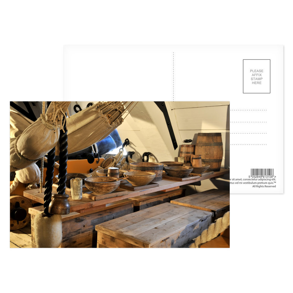 Mess Table on HMS Victory Postcard (x8)