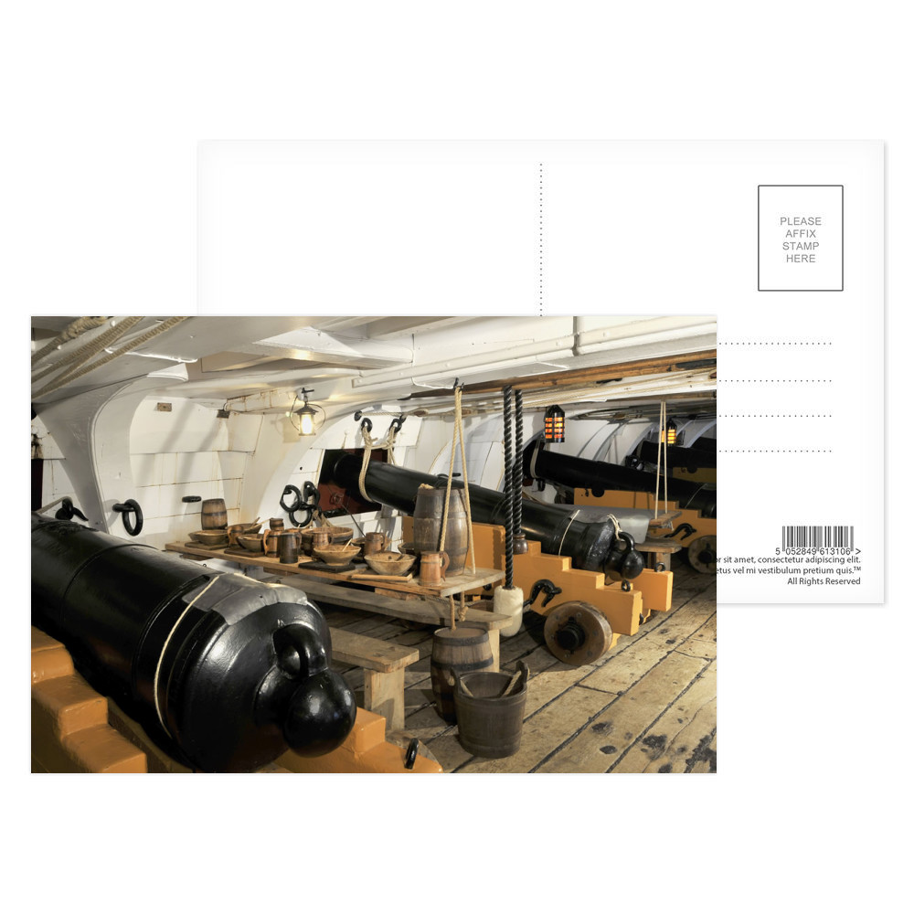 The Mess Deck on Board HMS Victory Postcard (x8)