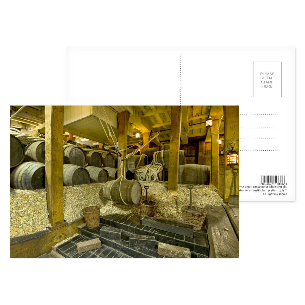 Ballast in the Hold of HMS Victory Postcard (x8)