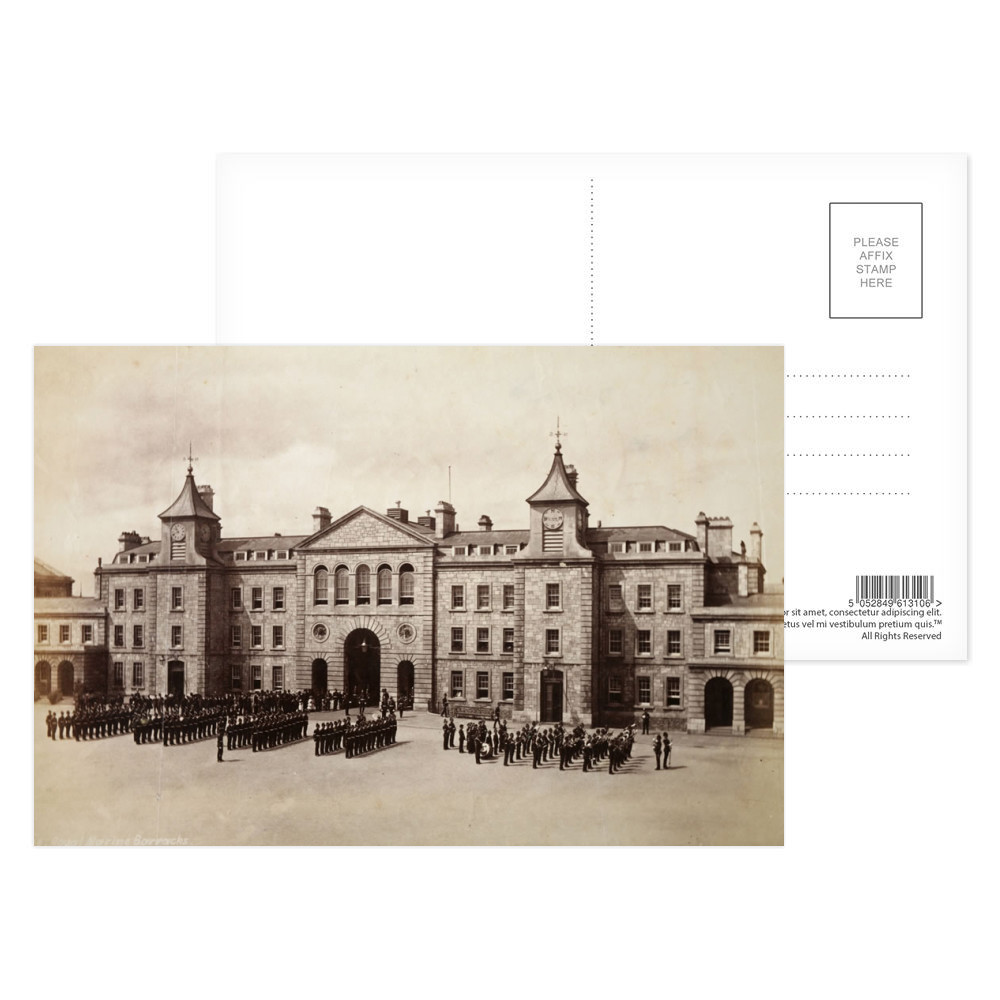 Gateway and Officers' Quarters, Royal Marine Barracks Stonehouse,.. Postcard (x8)