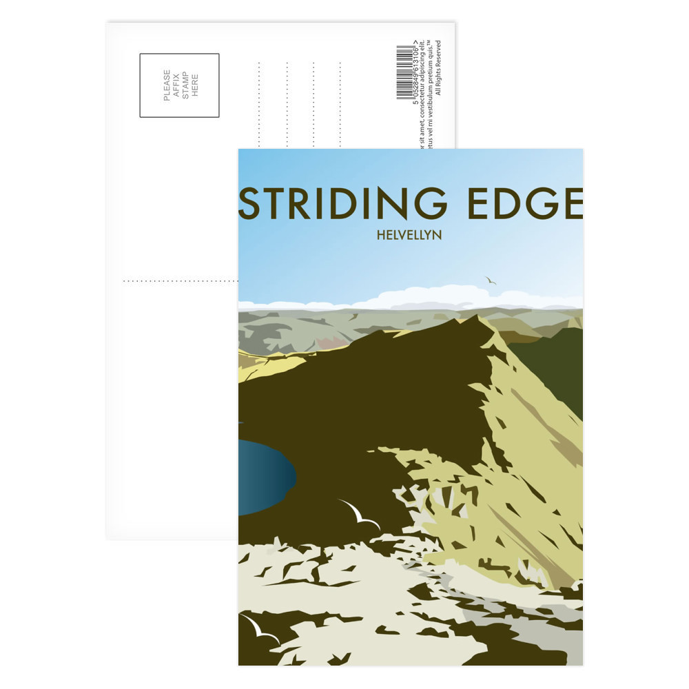 Helvellyn Edge, Lake District Postcard