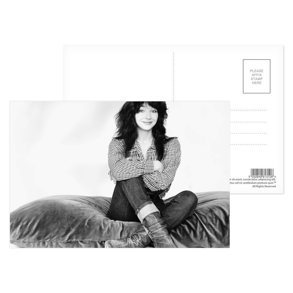 Kate Bush Singer Sitting On A Giant Cushion September 1983  Postcard (x8)