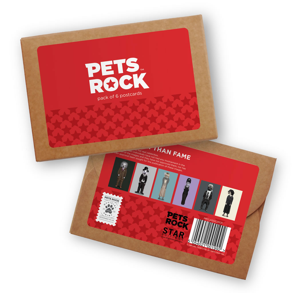 Set of 6 Pets Rock Postcard Sets - Classic Collection 2