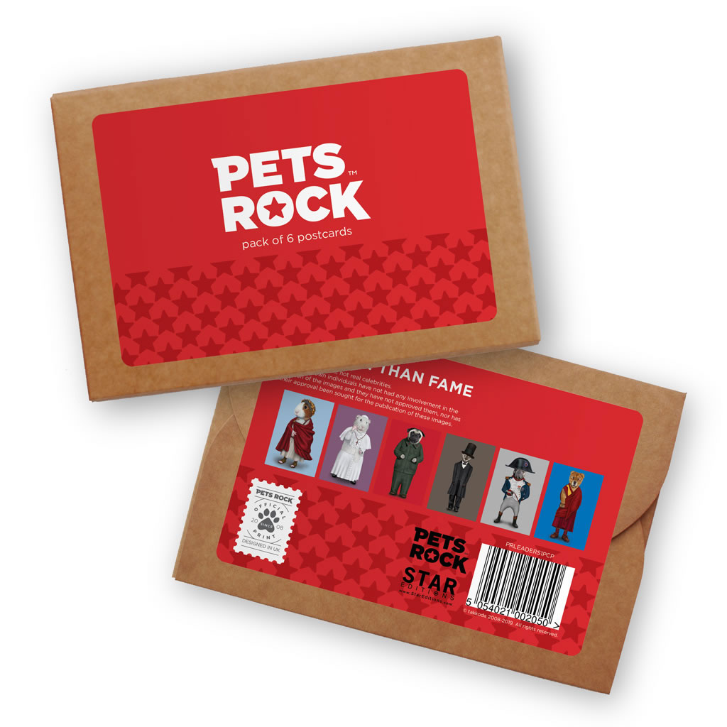 Set of 6 Pets Rock Postcard Sets - Leaders Collection 1