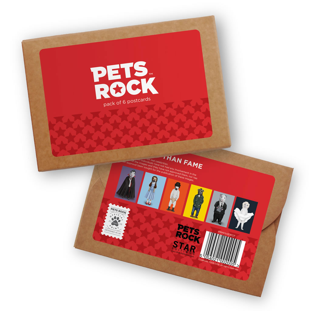 Set of 6 Pets Rock Postcard Sets - Movie Collection 1