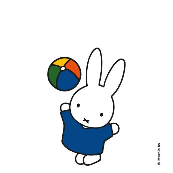 miffy loves to play - Personalised Framed and Mounted Art Print