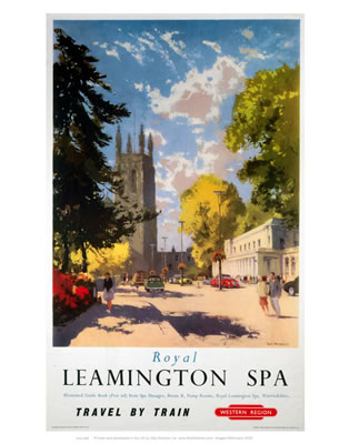 Leamington spa Vintage Travel  Poster reproduction