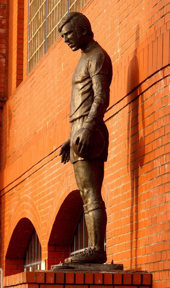 John Greig statue at Ibrox Stadium,.. Art Print
