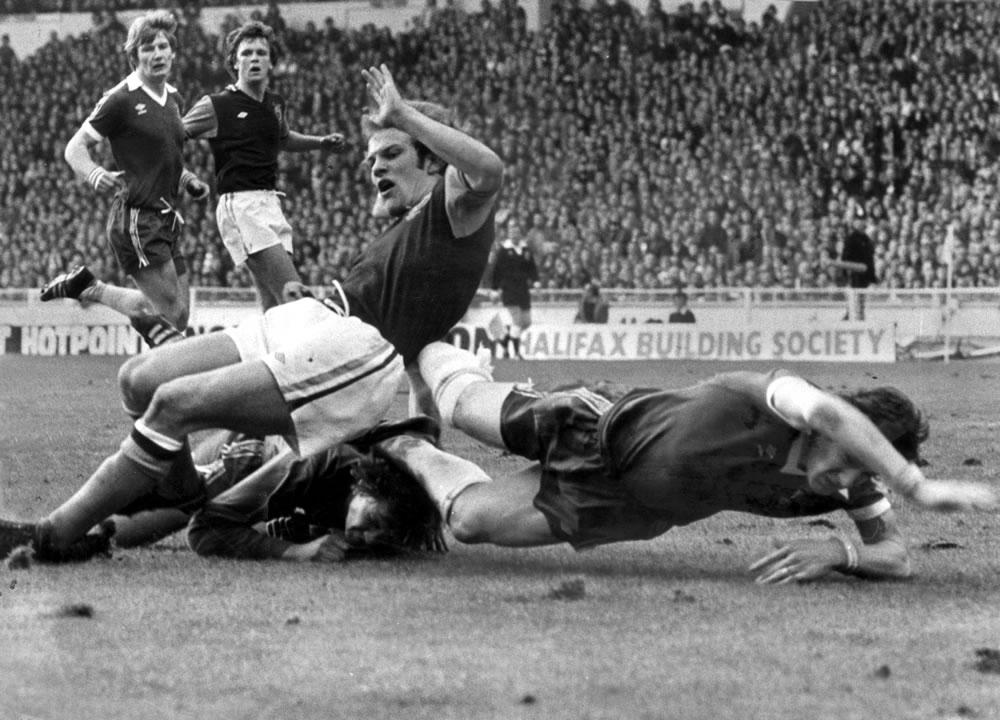 1977 League Cup Final at Wembley.. Art Print