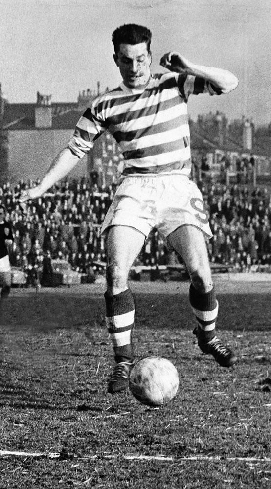 Steve Chalmers, Celtic football hero.. Art Print