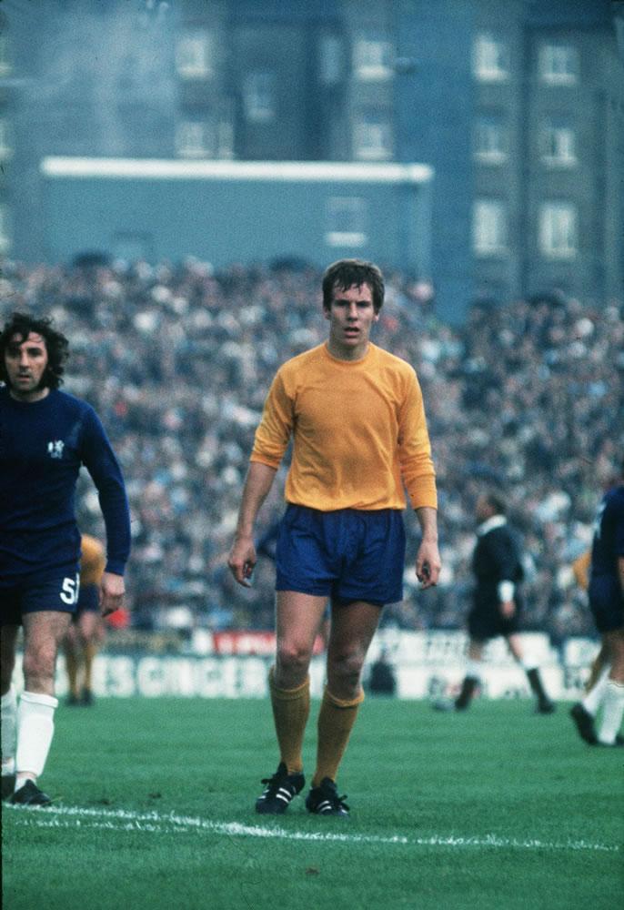 Chelsea v Everton Evertons Joe Royle circa1970 Art Print