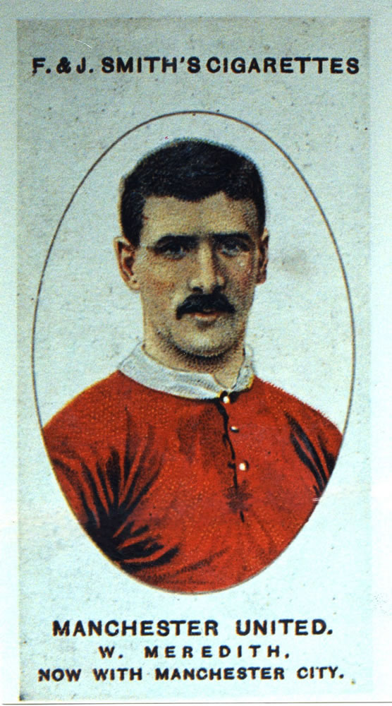 A football card depicting Manchester.. Art Print