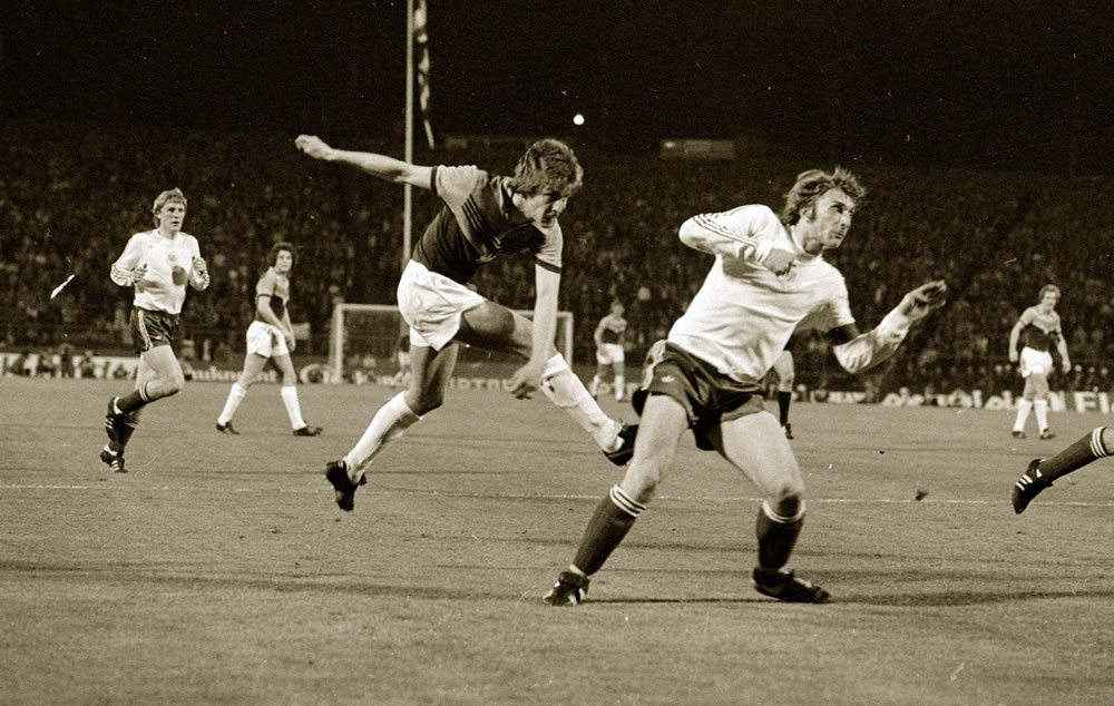 European Cup Winners Cup Final at the Heysel Stadium, May 1976. Anderlecht.. Art Print