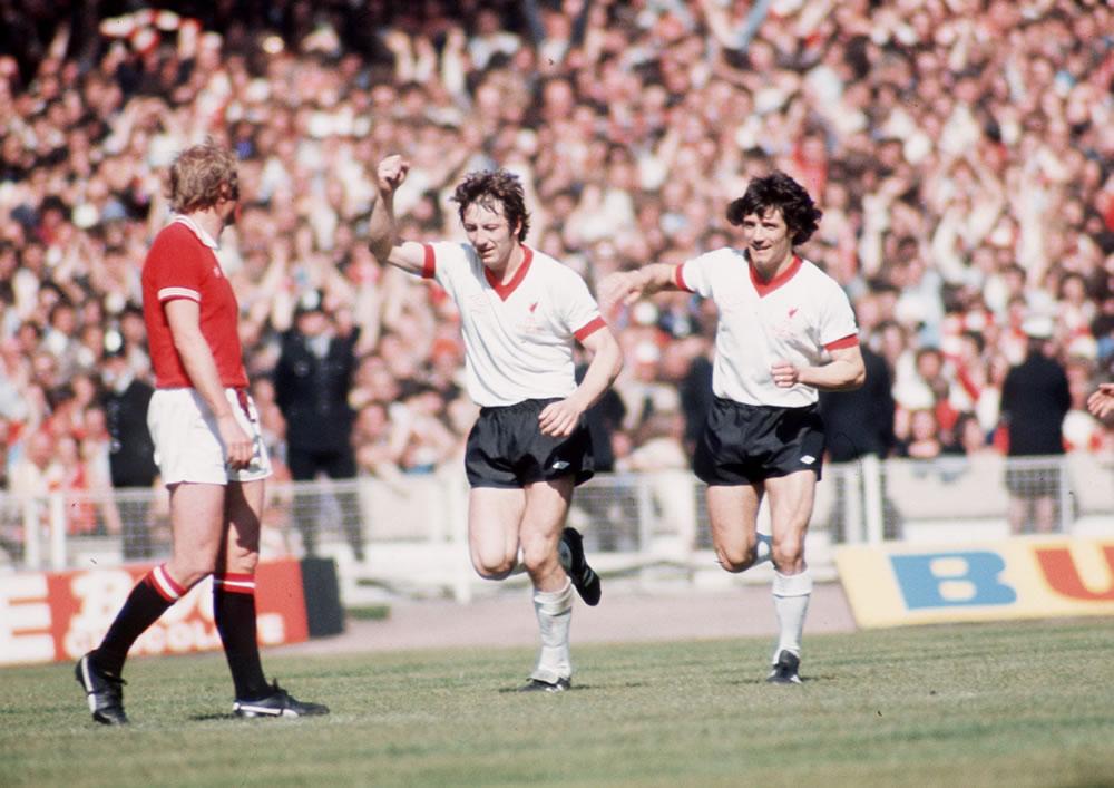 1977 FA Cup Final at Wembley Stadium : Manchester United 2 v Liverpool 1... Art Print
