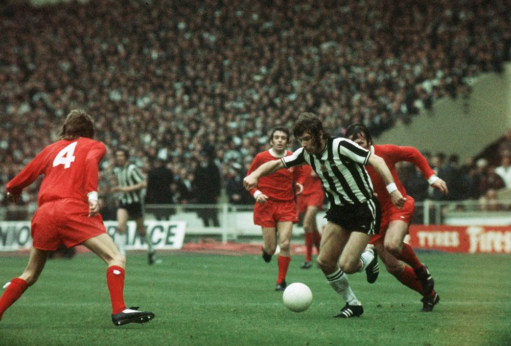 1974 FA Cup Final at Wembley, May 1974. Liverpool 3 v Newcastle United 0... Art Print