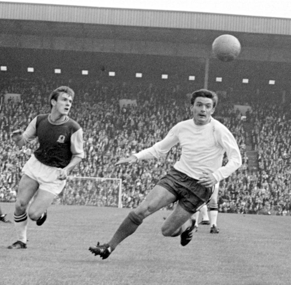 Aston Villa v Chelsea 1966/67 Season... Art Print