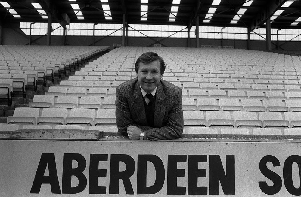 Alex Ferguson, Manager of Aberdeen FC. Art Print