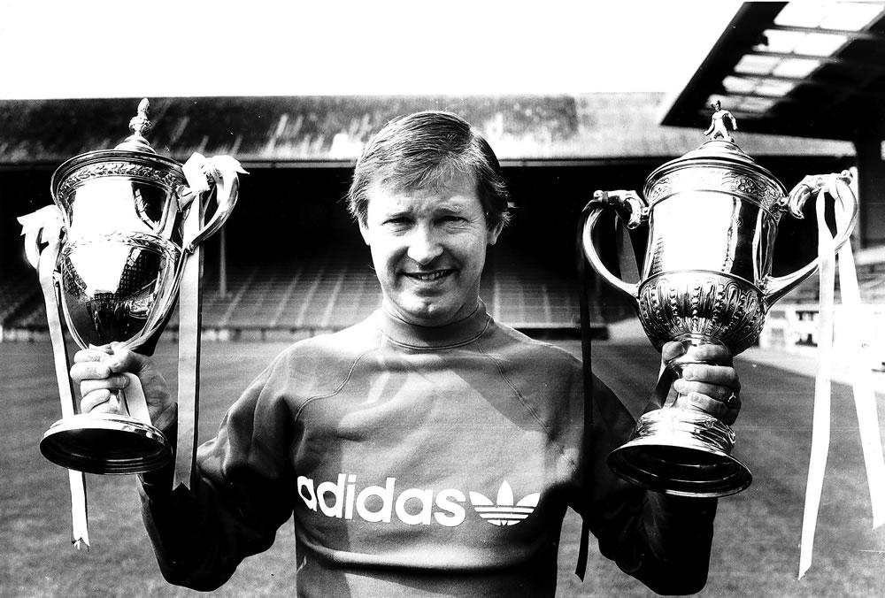 Alex Ferguson, Manager of Aberdeen who.. Art Print