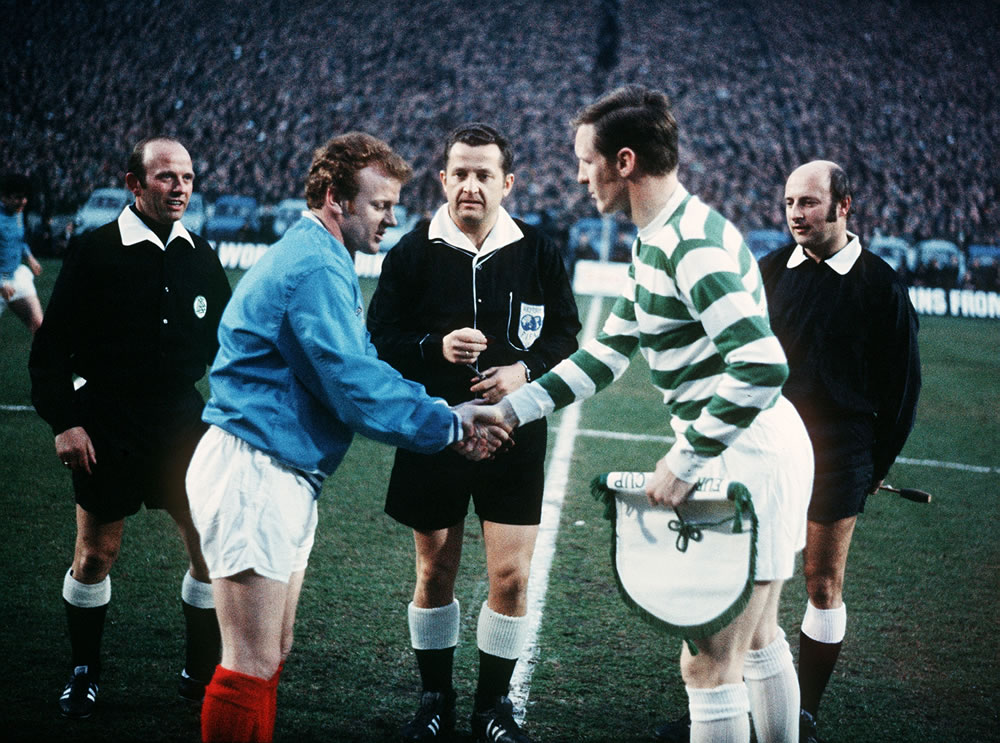 Celtic v Leeds, 1970 European Cup Semi.. Art Print