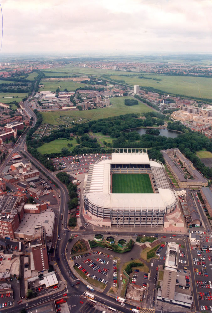An aerial picture of St James' Park circa 11/07/96. By the time Newcastle.. Art Print