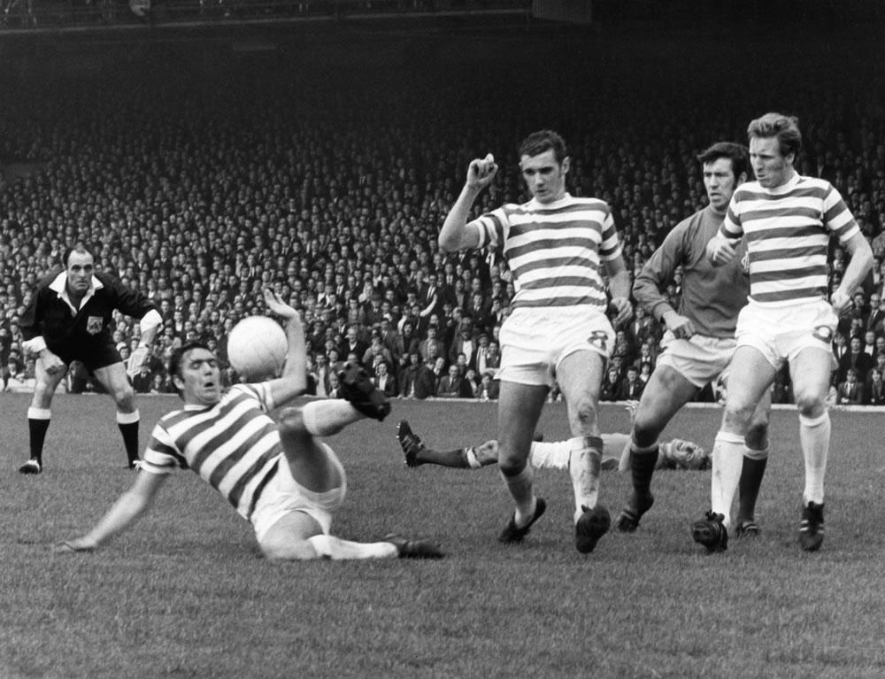 Celtic v. Rangers Bobby Murdoch clears.. Art Print