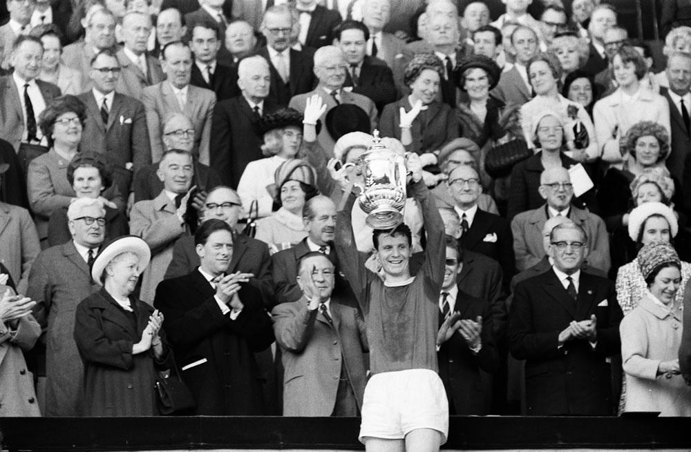 1966 FA Cup final at Wembley stadium. Everton 3 v Sheffield Wednesday 2... Art Print
