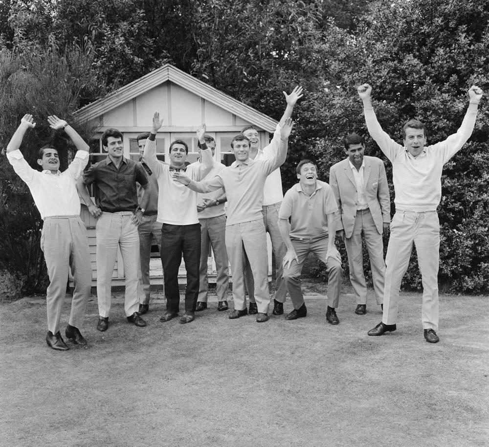 1966 World Cup: Bulgarian football team relaxing Art Print