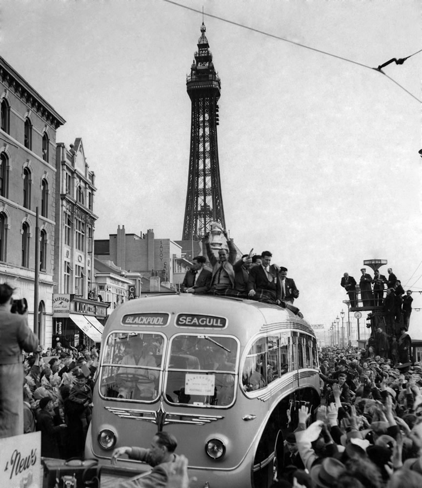Blackpool homecoming : for the first.. Art Print