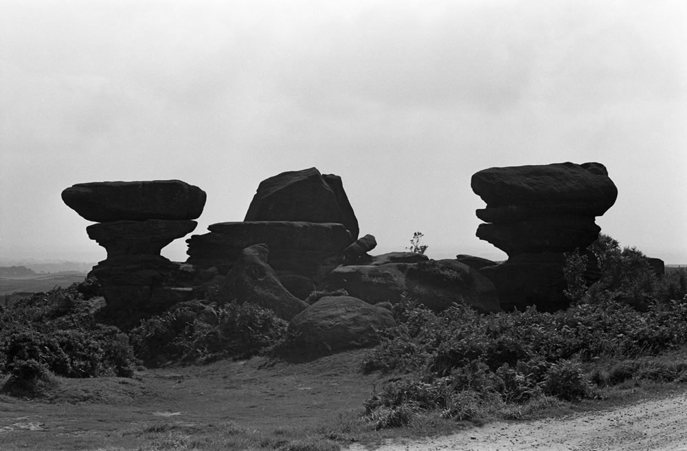 Brimham Rocks, North Yorkshire, 1971. Art Print