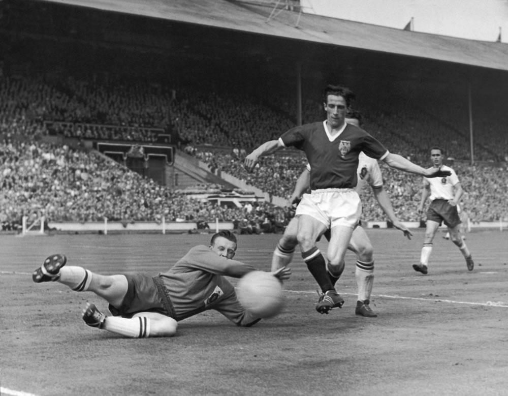 1958 FA Cup Final at Wembley Stadium... Art Print