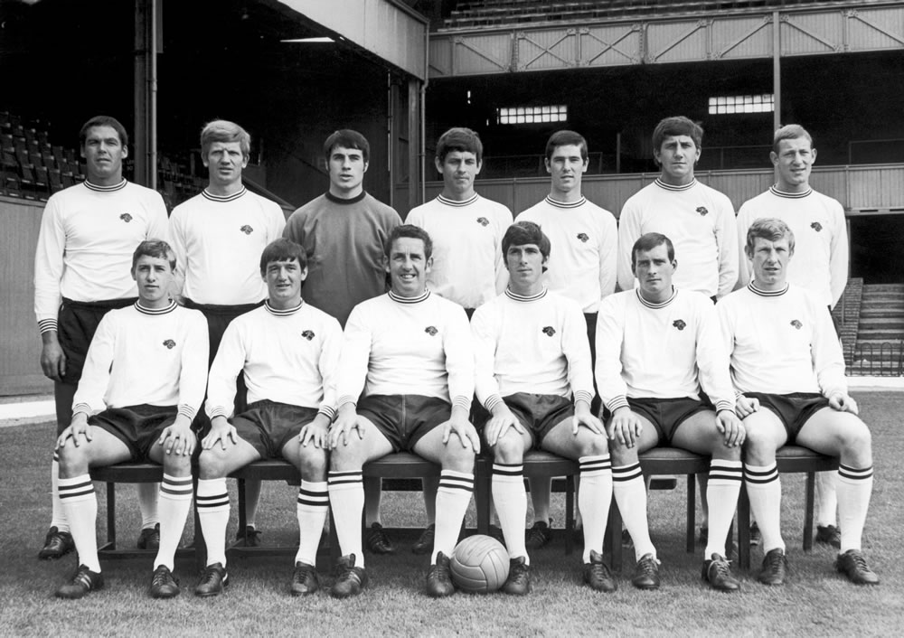Derby County Football club pose for a.. Art Print