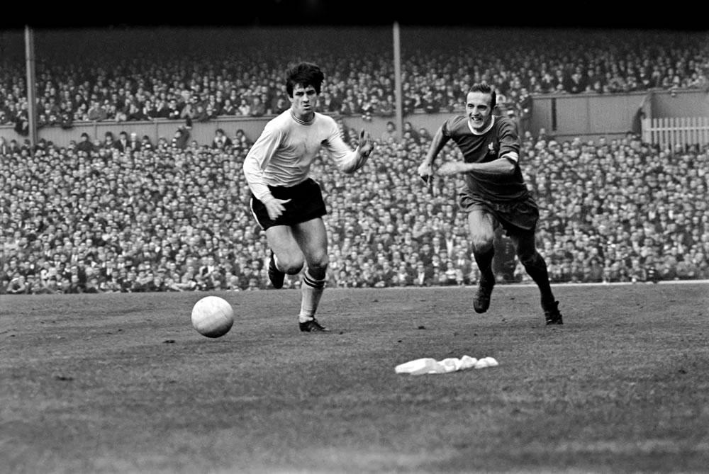 Derby v Liverpool, Ron Webster and.. Art Print