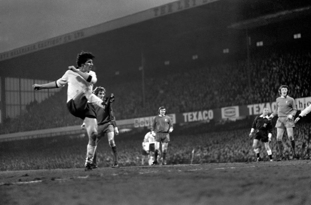 Derby County (2) v Liverpool (0). Roger.. Art Print