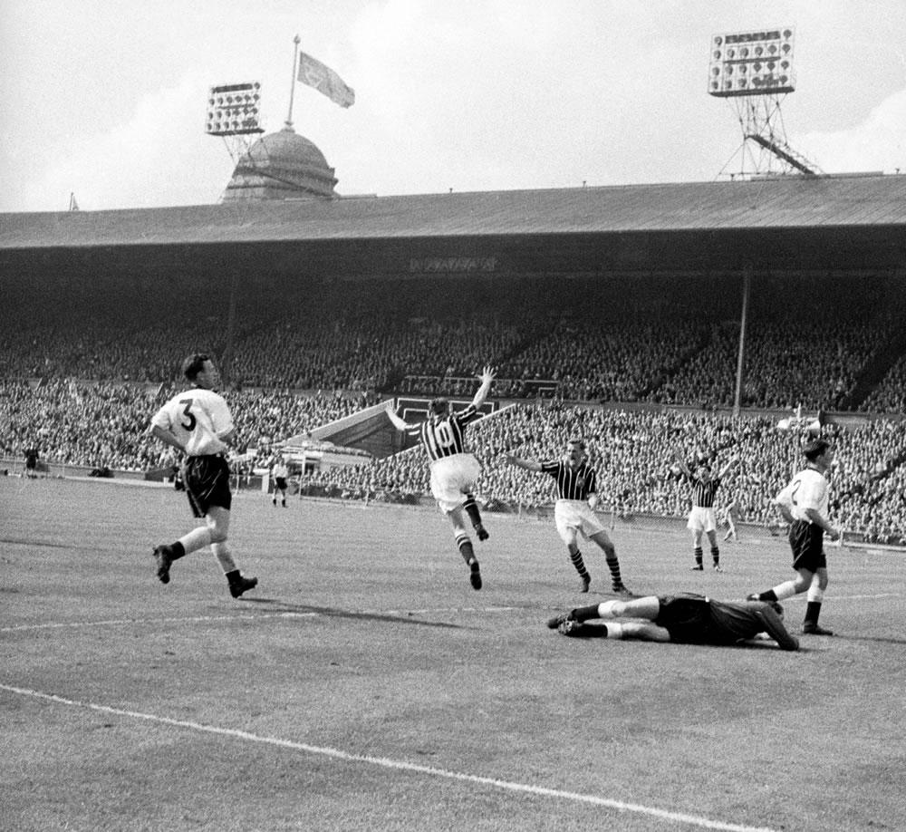 1956 FA Cup Final. Manchester City 3 v... Art Print