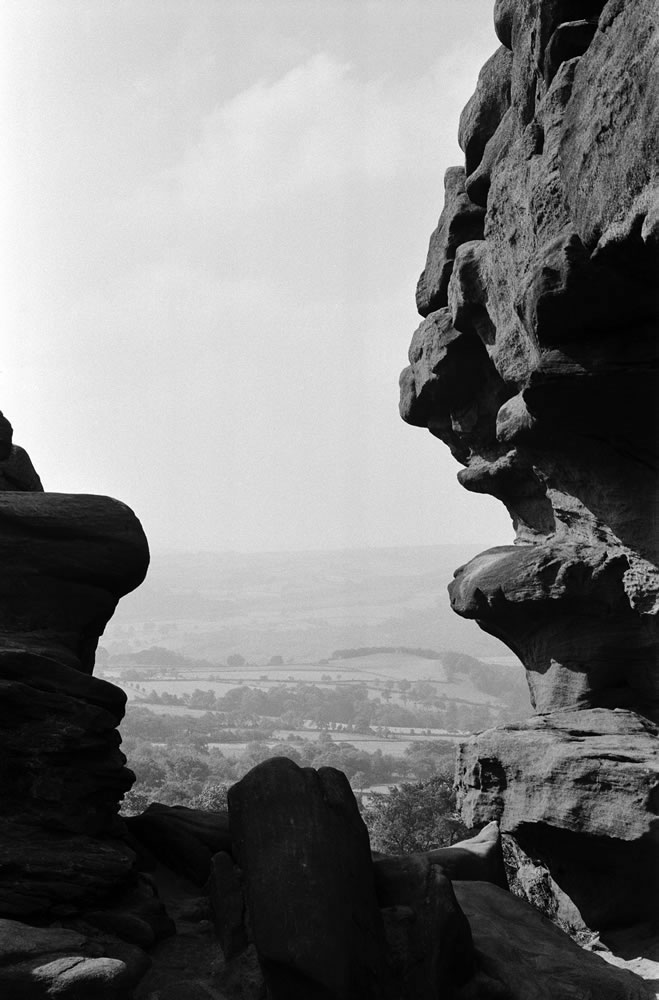Brimham Rocks, the balancing rock.. Art Print