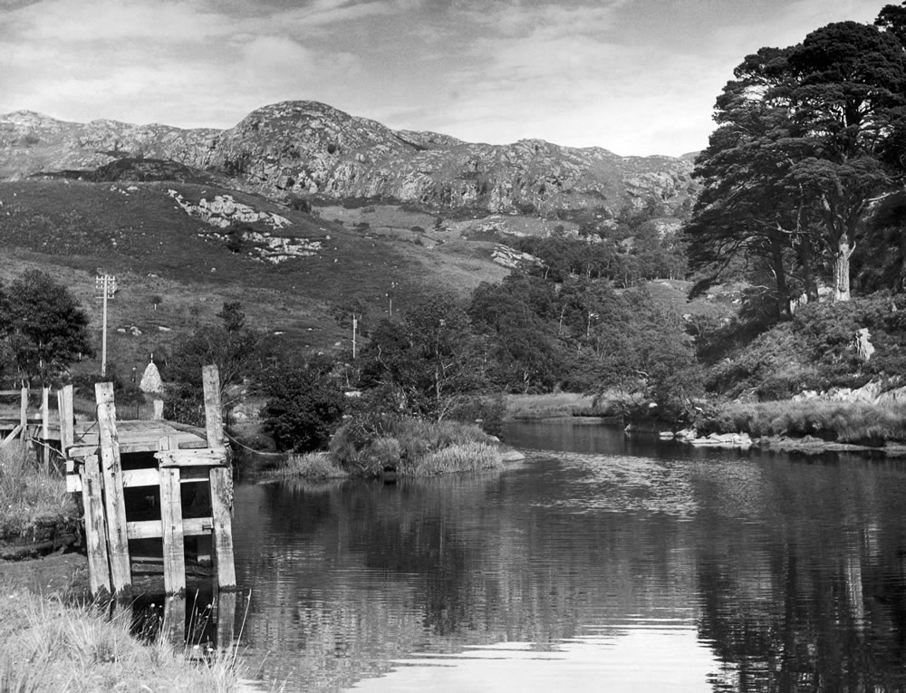 The River Shiel at the entrance to Loch.. Art Print
