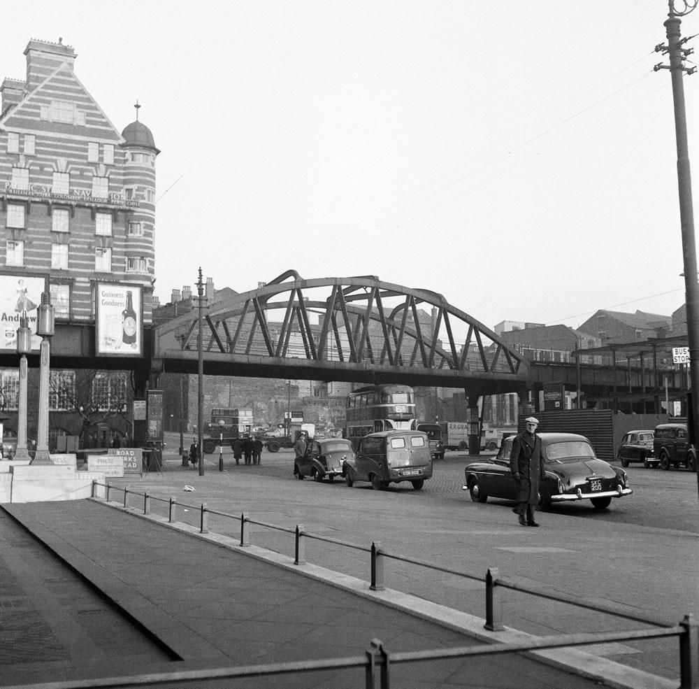 Bridge on the Liverpool Overhead.. Art Print