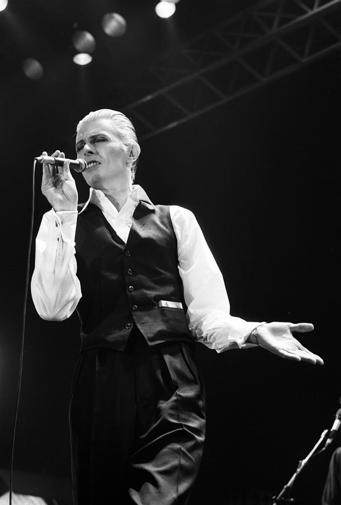 British pop singer David Bowie performing at the Empire Pool, Wembley Art Print