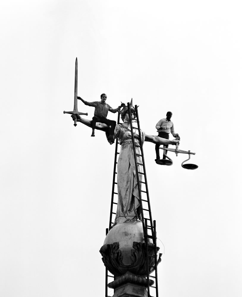 2 steeplejacks who are responsible for.. Art Print
