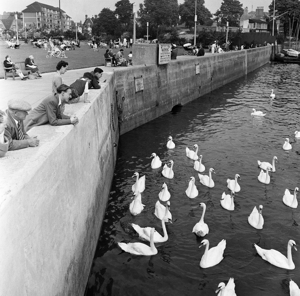 Scenes along the River Thames between.. Art Print