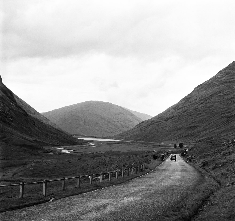 The Pass of Glen Coe. Argyll and Bute, Scotland. 23rd August 1951. Art Print