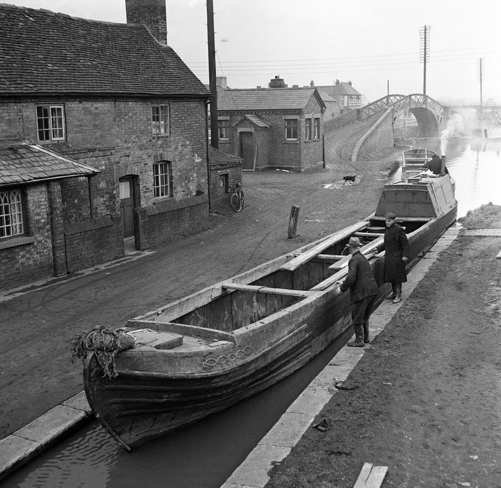 Canal scenes. April 1954 Art Print