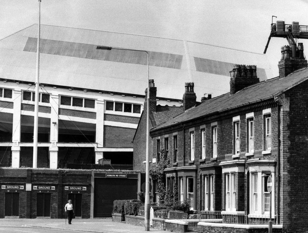 Anfield football stadium, 1980 Art Print