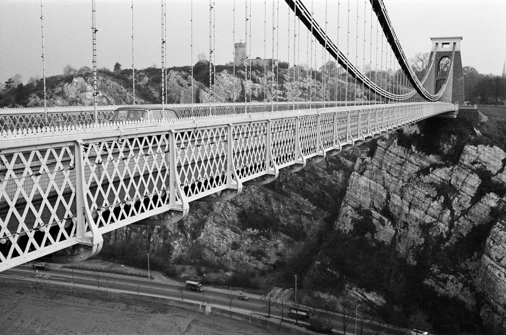 Clifton Suspension Bridge, Bristol. 1st March 1967. Art Print