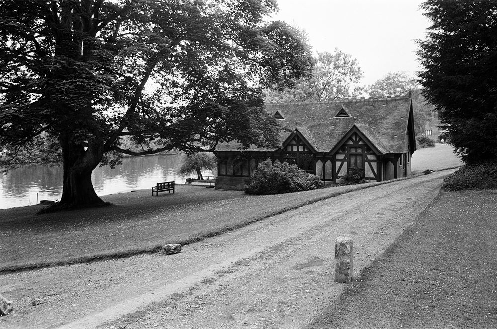 A boathouse on the Cliveden Estate, Taplow, Buckinghamshire. 13th June 1963. Art Print