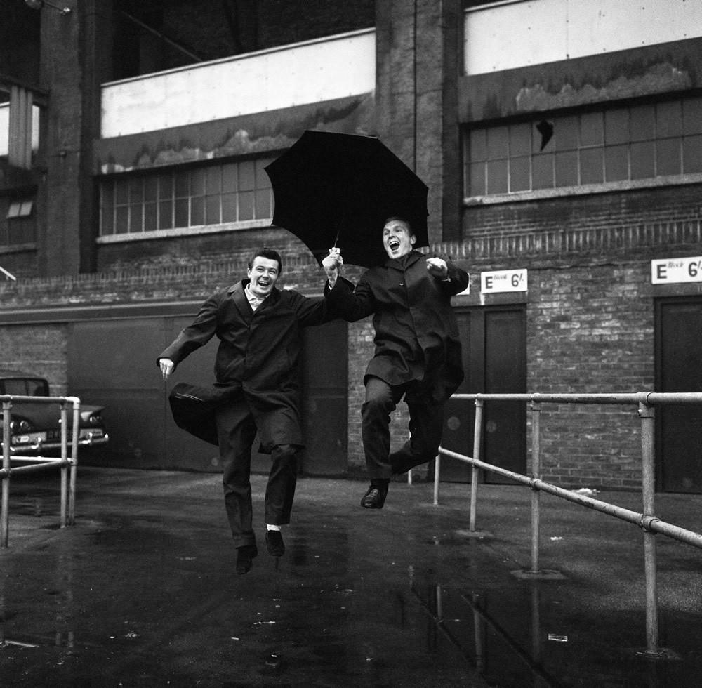 Johnny Byrne, Bobby Moore, West Ham United Art Print