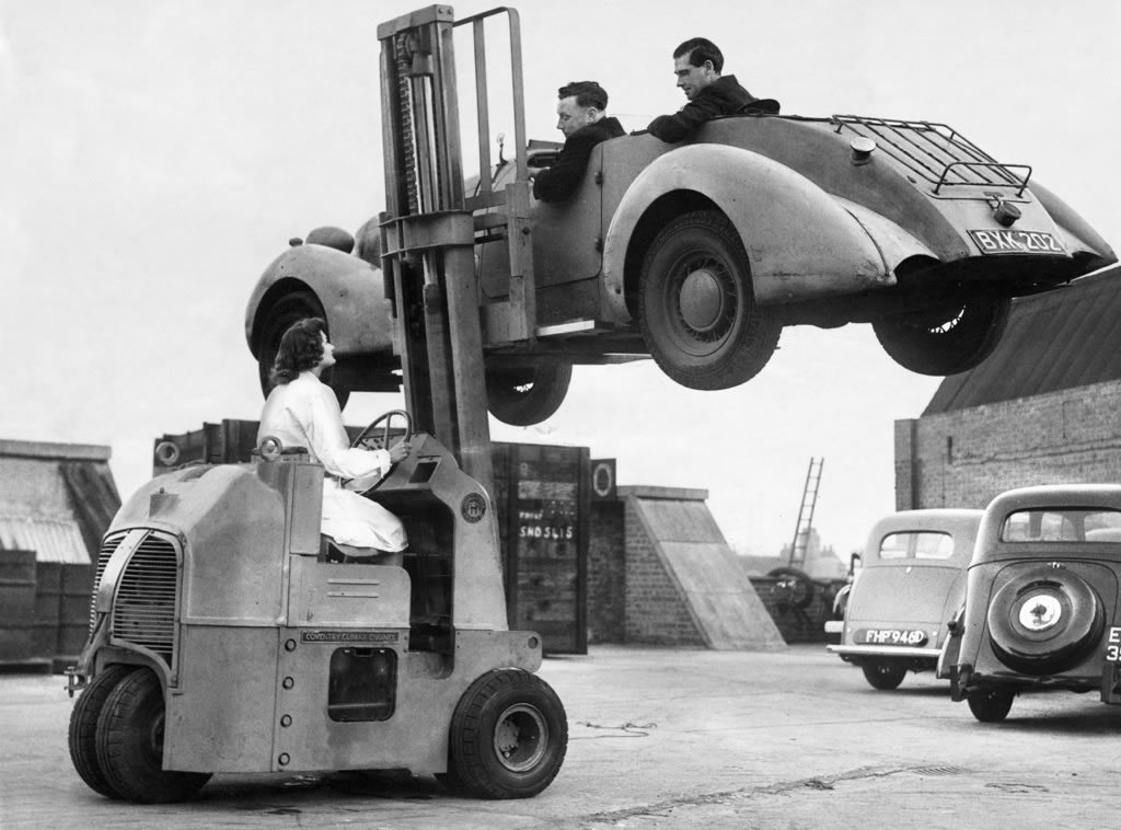 Coventry Climax Engines ET199 Fork Lift Truck, 1946 Art Print Art Print