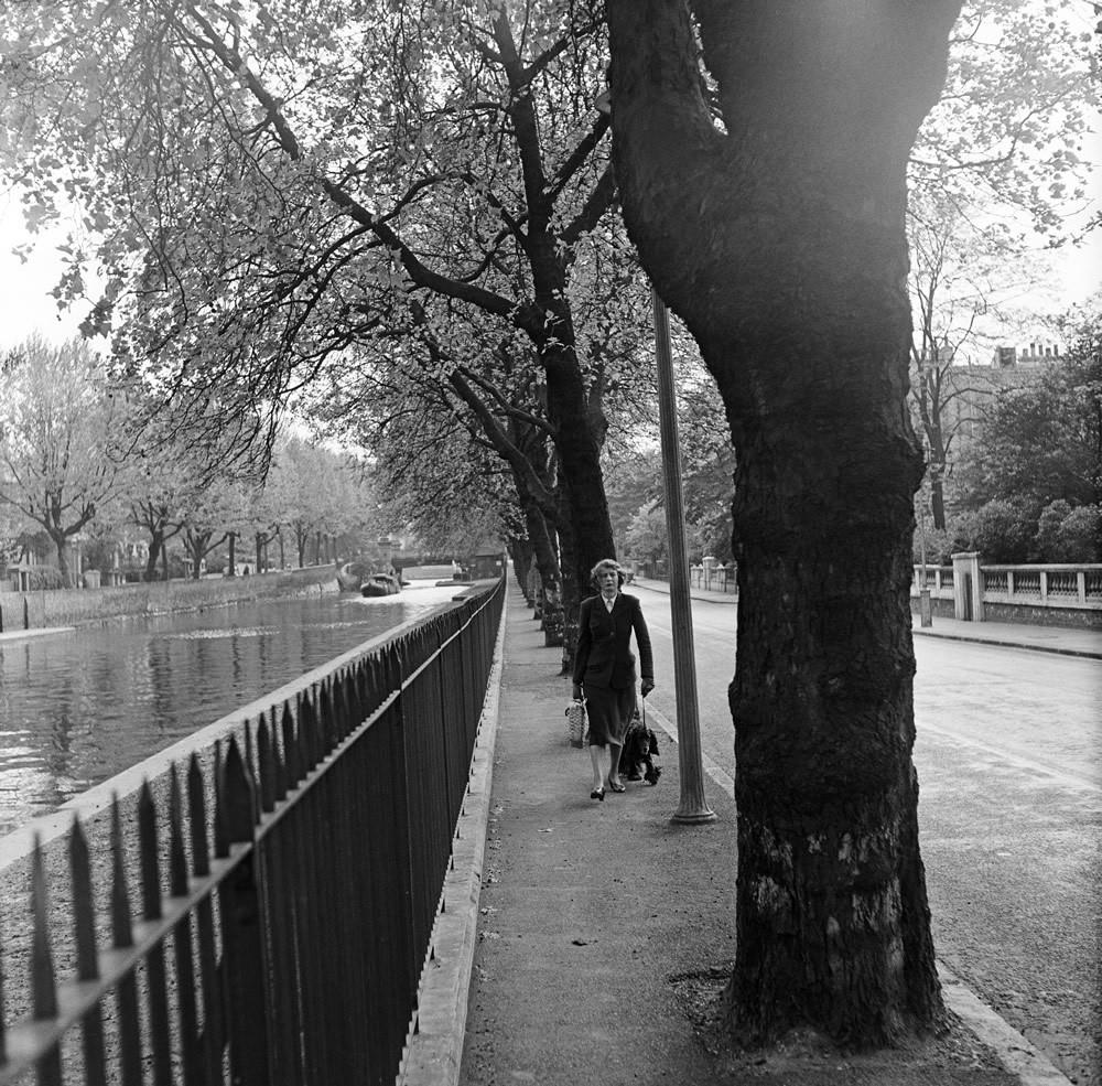 Union Canal, Paddington, London, 1954 Art Print